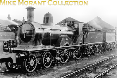 G&SWR 4-4-0 no. 417 was a Manson designed loco that was built by the company's own Kilmarnock works in 1893 and was designated as Class 8. Withdrawal as LMSR no. 14164 came in April 1927. This shot was allegedly taken in 1920. [Mike Morant collection]