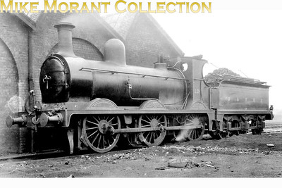 G&SWR 0-6-0 no. 124 was a Manson designed loco that was built by Neilson Reid in 1900 and was designated as Class 115. Withdrawal as LMSR no. 17479 came in July 1934. This shot was allegedly taken in 1920. [Mke Morant collection]
