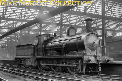 """An undated but pre-1919 portrait of G&SWR Manson era '361' class 0-6-0 no. 320 or 380 at Carslisle Citadel station. The sleeve note states """"320"""" but I think it is actually 380. Please Contact Me or leave a comment if you feel that you can add detailed background data for this locomotive. [Mike Morant collection]"""