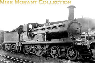 G&SWR 4-4-0 no. 717 was a Smellie designed loco that was built by the company's own Kilmarnock works in 1884 and was designated as Class 119. Withdrawal as LMSR no. 14134 came in February 1930. This shot was allegedly taken in 1920. [Mike Morant collection]