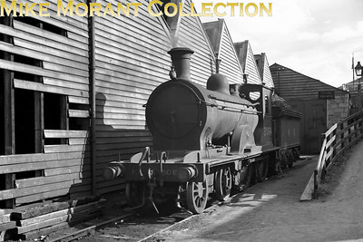 NBR Holmes D31 Class 4-4-0 no. 2064, its LNER 1946 number, photographed at Aberdeen's Kittybrewster shed in 1947. 2064 was one of the few D31's to enter BR ownership although not long enough to acquire a '6' prefix being withdrawn in August 1948.