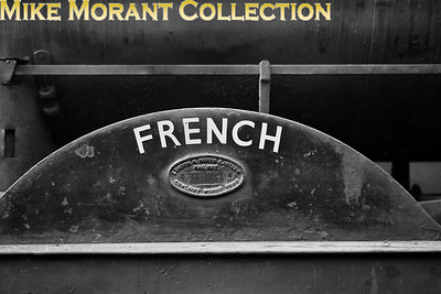 The painted name FRENCH on the splasher of Holmes J36 class 0-6-0 no. 65217. [Mike Morant collection]