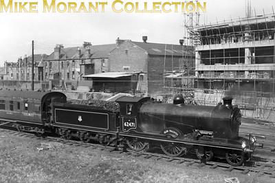 SLS: South Queensferry/Kirkliston/Edinburgh Suburban line/Glencorse 28/4/51. Reid D34 class 4-4-0 no. 62471 Glen Falloch at Glencorse. [Mike Morant collection]