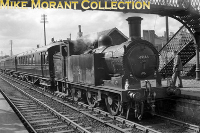 Branch Line Society: Bathgate and District  6/5/61 NBR Reid designed N15 0-6-2T no. 69163 at Caldercruix station during the first part of this tour from Maryhill Central to Bathgate Upper. No. 69163 was an Eastfield engine at the time and would be withdrawn from that shed in February 1962 whilst a viewer notes that the first coach is BSO no. SC16658E. [Mike Morant collection]
