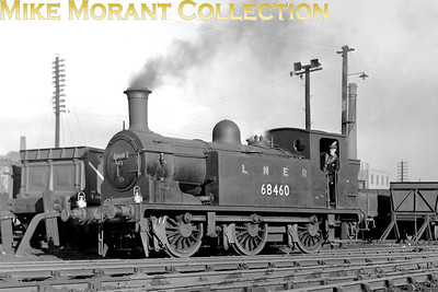 Holmes NBR J83 class 0-6-0T no. 68460 but still branded LNER at Haymarket in 1949. Built in 1901 by Neilson Reid, 68460 would be withdrawn in November 1958 whilst still allocated to Haymarket. [Mke Morant collection]