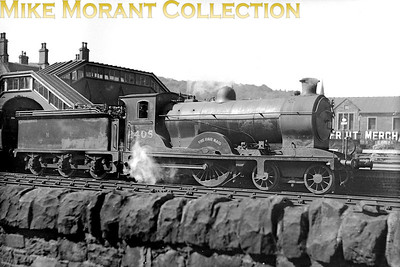 Former NBR Reid designed D29 class 4-4-0 no. 2405 The Fair Maid at Galashiels. 2405 was built in the company's own works and entered service in September 1909 with the number 900. The number depicted here is the one applied during the LNER's renumbering exercise. This would become 62405 in March 1949 whilst allocated to St. Margaret's shed and its only subsequent transfer would be to Haymarket thereby remaining an Edinburgh based engine until withdrawal in February 1951. [Mike Morant collection]