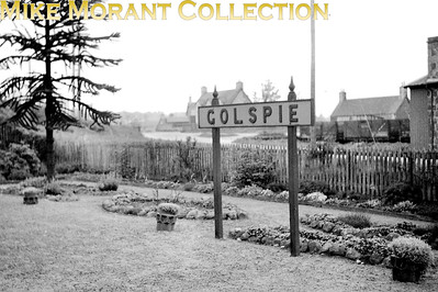 A running-in board at the Highland Railway station of Golspie which had opened in 1868 and is still with us to this day.. [Mike Morant collection]
