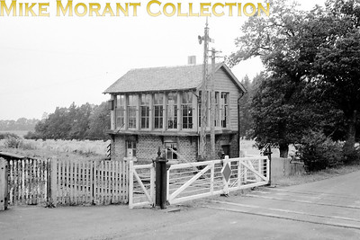 This is the Former NBR signal box at Port of Menteith situated on the branch from Stirling to Balloch which had closed to passengers as far back as 1934. There's no supporting data with this negative other than the location but I think this was probably taken in the 1950's but I would like to know when this line closed to all traffic as I think this was probably taken on the last day of operations. Note that the platforms are still in situ.