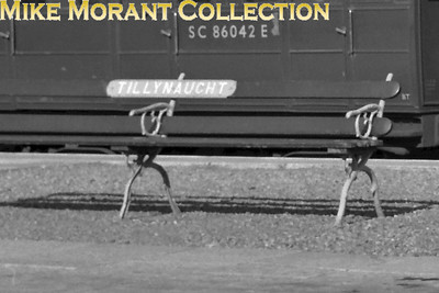 A bench seat name board at the erstwhile GNoSR station of Tillynaught. [Mike Morant collection]