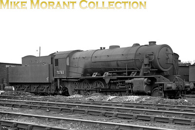 WD Austerity 2-10-0 No. 73783 moved from storage in southern England to Carstairs mpd in February 1949 but was re-allocated to Grangemouth in October of the same year and there she remained until withdrawal in 1962. The allocated BR number was 90759 which was applied in 11/50.