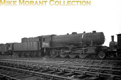 WD Austerity 2-8-0 No. 77127 was built in 1943 and was later allocated to the LNER followed by BR(E), whilst its BR number 90582 was applied in 1949 when allocated to March mpd. 90582 spent its entire working life allocated to more or less the same area of the Eastern Region and withdrawal was from Mexborough shed in March 1964.