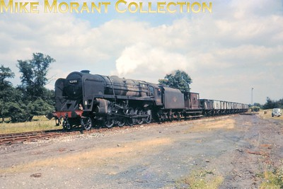 BR Standard 9F 2-10-0 no. 92102 at Desford. For what it's worth, I think this might be a copy slide. [Mike Morant collection]