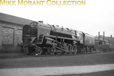 Brand new BR Standard 9F 2-10-0 No. 92034 seen here outside Crewe works on 21/11/54.