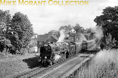 SCTS: Farewell to Steam 20/9/64 BR Standard 9F 2-10-0 no. 92220 Evening Star on the Mid-Hants near Alton. [Mike Morant collection]