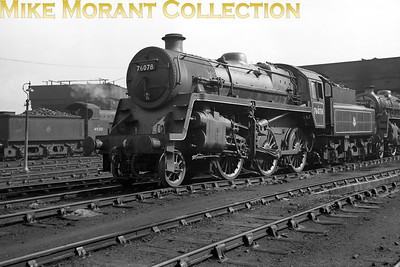 BR Standard 4MT mogul no. 76078 at its home shed of Sutton Oak and where it spent its entire working life on 17/3/57.