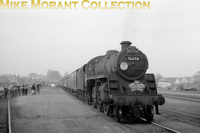 LCGB: The South Western Suburban Rail Tour 5/2/67 BR Standard 4MT 2-6-0 no. 76058 at Reading Central goods depot.