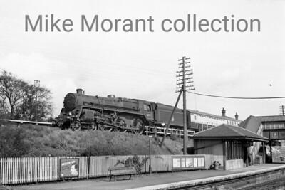BR Standard 5MT 4-6-0 No. 73077 departs from Craigendoran on 24/5/56.