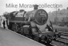 <b>SLS: London Area Rail Tour 6/9/53</b><br> BR Standard 4MT 4-6-0  - a Bletchley engine at the time and the sole motive power for this tour -   at Hatfield station.<br> [<i>Mike Morant collection</i>]