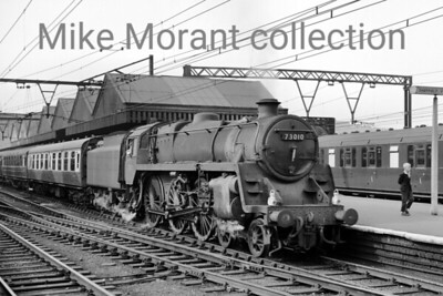 BR Standard 5MT 4-6-0 no. 73010 on passenger duty at Sheffield Victoria. [Mike Morant collection]