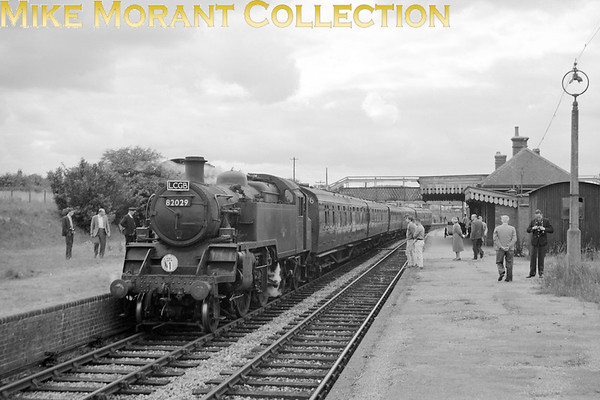 <center><b>LCGB: The Anton & Test Valley Rail Tour 6/9/64</b></center> BR Standard, 3MT 2-6-2T no. 82029 on former MSWJR metals at Ludgershall. This tour was a simple out and back affair starting from Winchester (Chesil) and proceeding via Eastleigh, Southampton, Romsey, Fullerton and Andover Junction to this end point. The return was via the same route.