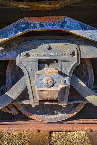 Wheel Detail - Detroit & Mackinac RR  Pullman Passenger Car - Circa1888 - South Fork Train Staion, South Fork, Rio Grand Co., CO