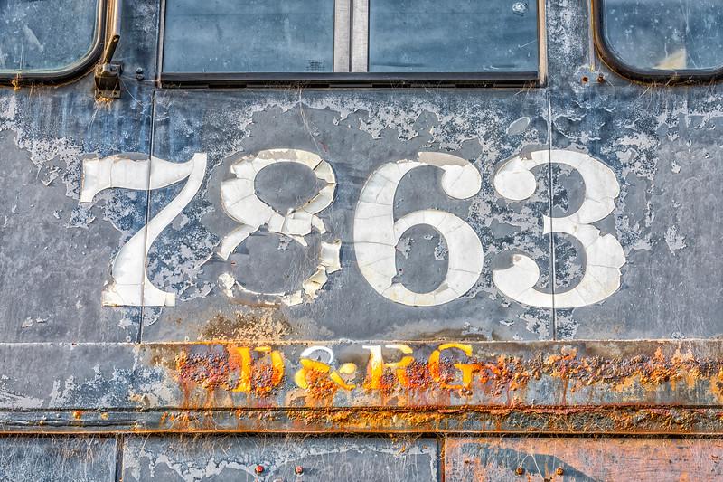 'No. 7863' - D&RG RR Engine No. 7863 (Detail)