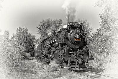 765 2016 Steam in the Valley 0889 BnW 1