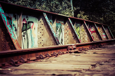 Graffiti on the Trestle Bridge