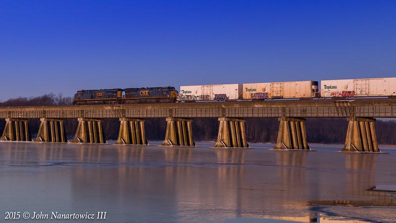 The OJ Train @ Powell's Creek Crossing