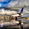 United Airlines 777 Rainbow