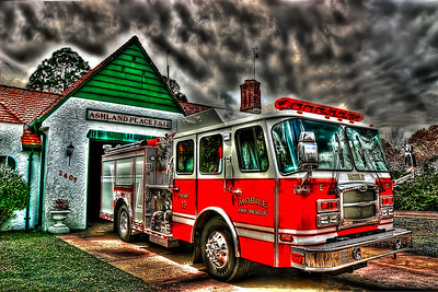 Ashland Firetruck at the Ashland Station in Mobile Alabama.