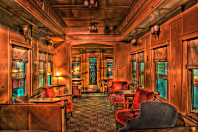 An Executive Train Car that sits in the train museum in Duluth Georgia.