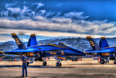 Blue Angels at San Francisco Airport during Fleet Week 2012.