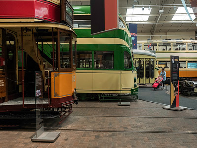 Trams in the Great Exhibition Hall