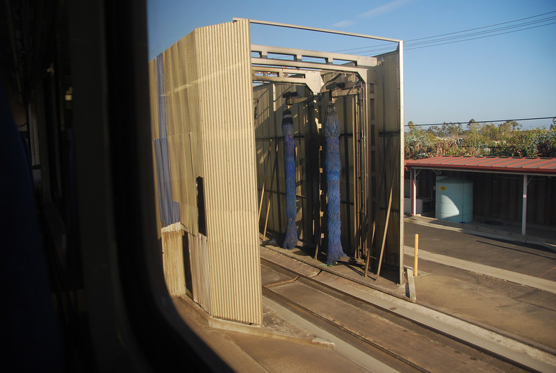 DSC_0377: The railcar wash in Goleta.