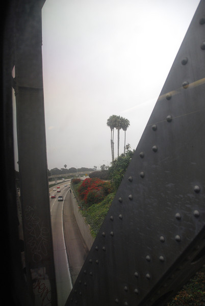 DSC_0061: Crossing the old steel bridge in Ventura.