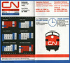 Canadian National Railways Condensed Schedules April 24, 1966 to October 29, 1966. Cover and calendar for red white & blue days.