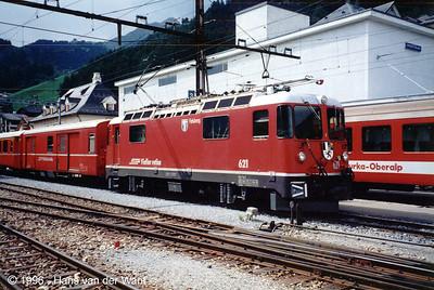 RhB-621 - Disentis - 20-08-1996
