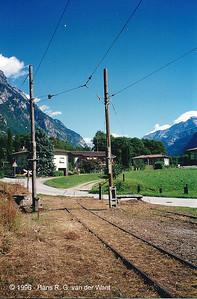 Former RhB rails - Cama - 23-08-1996