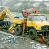 MB Unimog 008983 Q317GRN & OK MH 4S 57780 - Carrog, Llangollen Railway - 27 February 2005