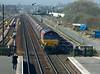 09:48; It is all go at Barnetby, no sooner had the vans cleared the block than the Barnetby East signaller cleared for 66189 and the 4C72 Scunthorpe to Immingham, one of the mgr coal circuits for the steelworks.