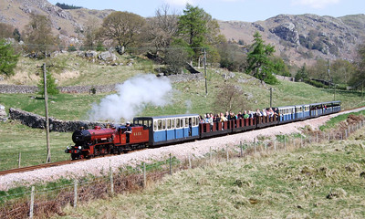 River Mite rolls down Hollin How Bank towards Eskdale Green, 18/04/09.