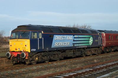 47501 Craftsman enjoys the January sunshine at Workington, 04/01/10.