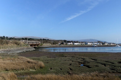 A view across the beautiful estuary of the River Mite at Ravenglass, 22/04/10.