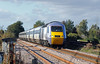 At Blue Gowt level crossing on the outskirts of Pinchbeck another HST set on the 07:52 Aberdeen to King's Cross...