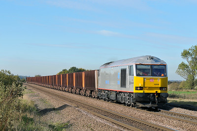 Class 60 No 60099 at Worlaby on 25 October 2010 with the 6K24 13:16 Scunthorpe - Immingham