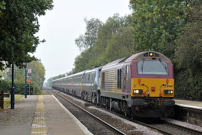 Class 67 No 67003 at Swinderby on 9 October 2010 with the 1A31 14:05 Leeds - Kings Cross