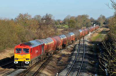 Class 60 No 60011 at Standish Junction on 18 January 2011 with the 6B13 05:05 Robeston - Westerleigh (running 7 min late)