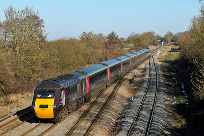 Class 43 HST No 43303 at Standish Junction on 18 January 2011 with the 1V50 06:08 Edinburgh - Plymouth service