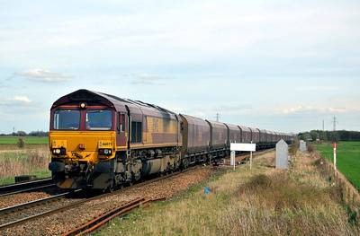 Class 66 No 66075 at Hambleton West Junction on 2 April 2011 with the 6R34 12:30 Immingham - Milford West Sidings (running 13 min early)